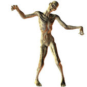 Walking undead zombie — Stock Photo