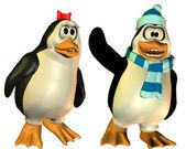 Pingüino casado amistoso — Foto de Stock