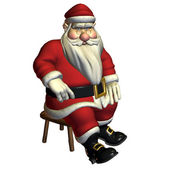 Santa Claus in sitting pose, relaxed — Stock Photo