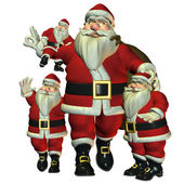 The merry Santa Claus — Stock Photo