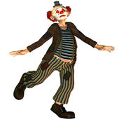 Dancing Clown with closed eyes — Stock Photo