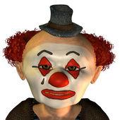 Sad clown face — Stock Photo