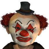 Evil clown — Stock Photo