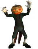 Man with a pumpkin head — 图库照片