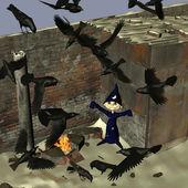 A raven black day — Stock Photo