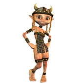Viking girl — Stock Photo