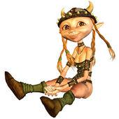 Viking girl — Stock Photo