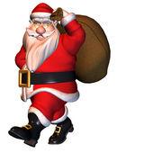 Kommenden Santa claus — Stockfoto