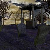 Vecchio cimitero — Foto Stock