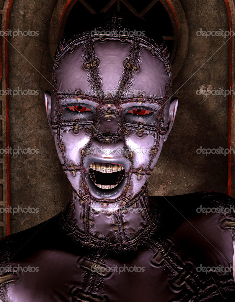 Rendering 3D portrait of a demon queen — Stock Photo #4808940