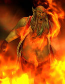 Bad Man in Fire — Stock Photo