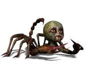 Maldita cabeça de boneca no corpo escorpião — Fotografia Stock