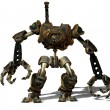Stock Photo: Steampunk robot from future