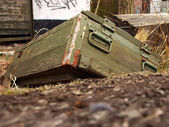Old ammunition box — Stock Photo