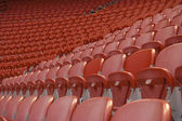 Empty red seats — Stock Photo