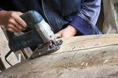 Carpenter at work — Stock fotografie
