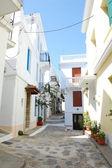 Narrow skopelos street — Stock Photo