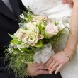 图库照片: Bridal bouquet close up