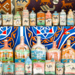 Egyptian sand art bottles — Stock Photo