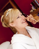 Bride's make up — Stok fotoğraf