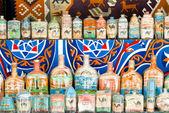 Egyptian sand art bottles — Stock Photo