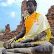 Buddha figure Ayutthaya — Stock Photo #4922824