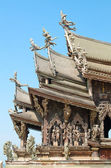 Trä tempel — Stockfoto