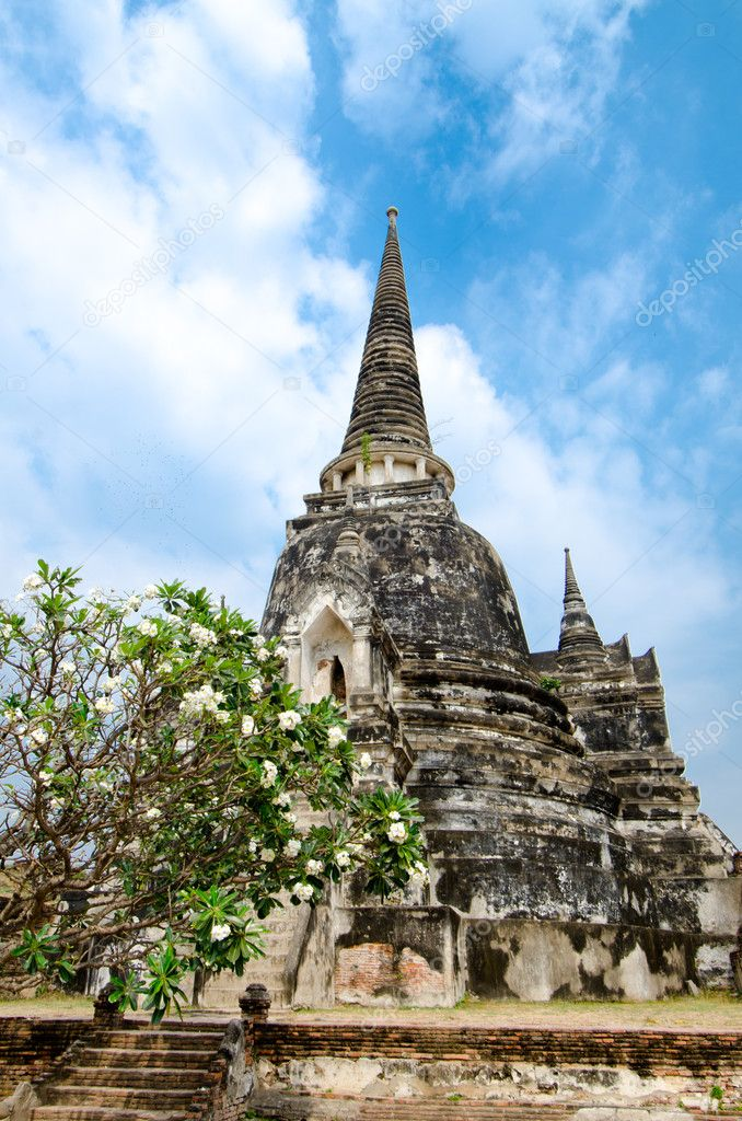 Buddhist temple ruins in Ayutthaya Thailand  Stock Photo #4922857