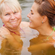 Stock Photo: Happy mother and daughter