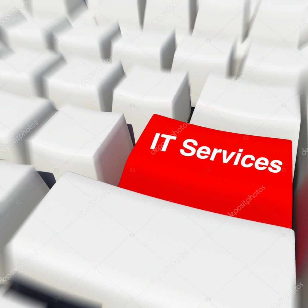 Red button of IT services — Stock Photo #4019698