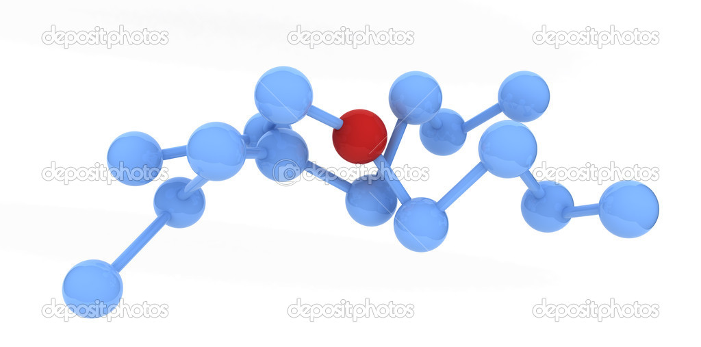 Red molecule — Stock Photo #4020547