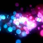 multi färgade ljus burst — Stockfoto