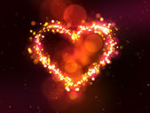 Sparkling heart — Stock Photo