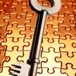 Key on puzzle — Stock Photo #4016444