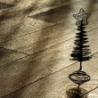 Stock Photo: Silhouette of Сhristmas tree on wooden floor