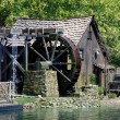 Stock Photo: Hut and mill