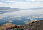 Mountains and Walker Lake in Nevada — Stock Photo