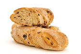 Some baguettes with raisins — Stock Photo