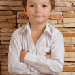 Stock Photo: Boy in white shirt