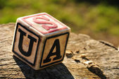 Cube with letter usa — Photo