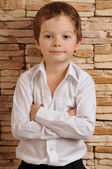 Boy in a white shirt — Stock Photo