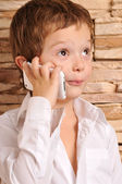 Boy talking on the phone — Stock Photo