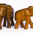 Wood elephant — Stock Photo