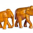 Wood elephant — Stock Photo