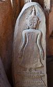 Low Relief handcraft Vintage Buddha Image — Stock Photo