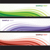 Abstract Banners Set. Vector Illustration. — Stock Vector