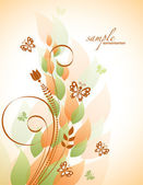 Abstract Floral Background. Vector Illustration. — Stock Vector