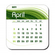 Stock Vector: 2011 Calendar. April.