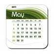Royalty-Free Stock Vector Image: 2011 Calendar. May.
