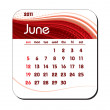 Stock Vector: 2011 Calendar. June.